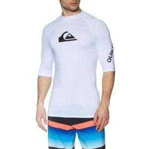 XXL Quiksilver Rash Guard Swim Surf Top White